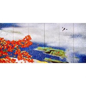横山大観「紅葉(右隻)」【ホログラム額装向け複製画】