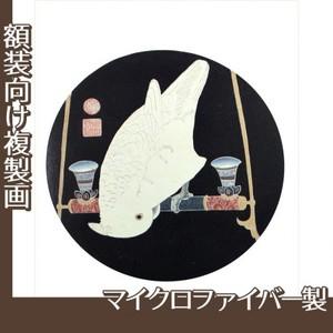 伊藤若冲「花鳥版画(六枚) 六.鸚鵡図」【複製画:マイクロファイバー】