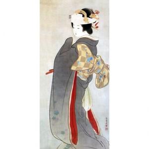 上村松園「人生の花」【タペストリー】