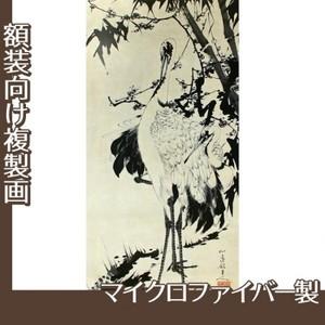 伊藤若冲「竹梅群鶴図1(双幅)」【複製画:マイクロファイバー】