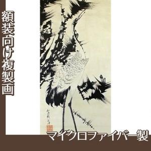 伊藤若冲「竹梅群鶴図2(双幅)」【複製画:マイクロファイバー】