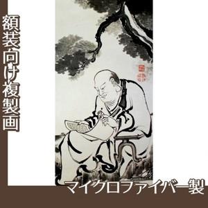 伊藤若冲「十六羅漢図(六幅) 六」【複製画:マイクロファイバー】