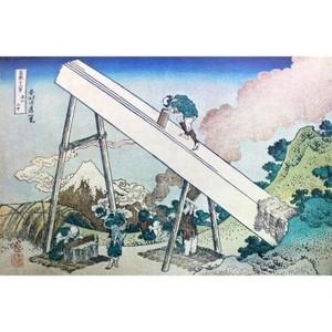 葛飾北斎「富嶽三十六景 遠江山中」【窓飾り】
