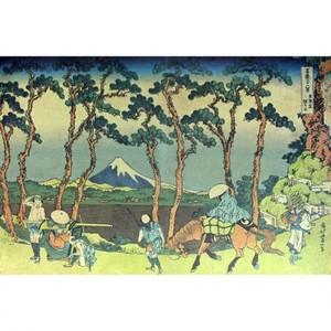 葛飾北斎「富嶽三十六景 東海道程ヶ谷」【窓飾り】