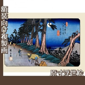 歌川広重「木曾街道六拾九次之内 望月」【原寸浮世絵】