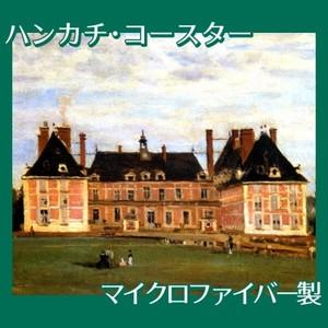 コロー「ロニーのベリー公爵夫人の城」【ハンカチ・コースター】