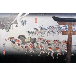 歌川広重「東海道五拾三次 宮・熱田神事」【窓飾り】
