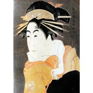 東洲斎写楽「松本米三郎のけほい坂の少将実はしのぶ」【窓飾り】