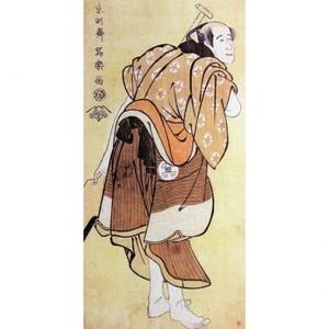 東洲斎写楽「大谷徳次の物草太郎」【窓飾り】