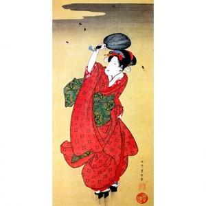 歌川豊国「蛍狩美人図」【窓飾り】