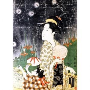 栄松斎長喜「蛍狩り」【額装向け複製画】