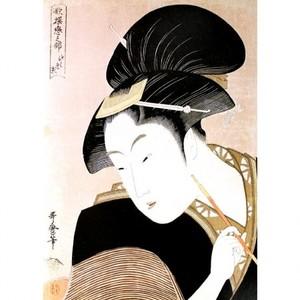 喜多川歌麿「歌撰恋之部 深く忍恋」【額装向け複製画】