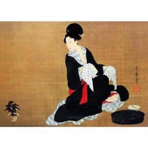 喜多川歌麿「洗顔美人図」【額装向け複製画】