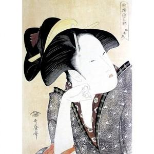 喜多川歌麿「歌撰恋之部 物思恋」【額装向け複製画】
