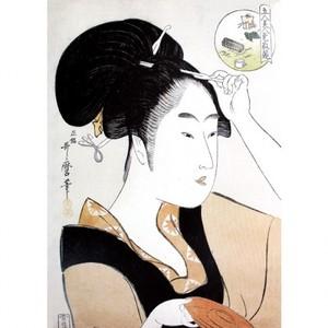 喜多川歌麿「五人美人愛敬競 芝住の江」【額装向け複製画】