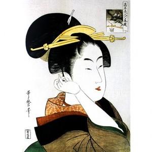 喜多川歌麿「高名美人六家撰 辰巳路考」【額装向け複製画】