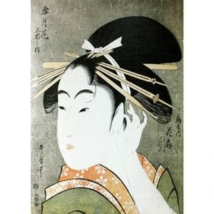 喜多川歌麿「雪月花三幅之内 扇屋内花扇」【額装向け複製画】