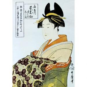 喜多川歌麿「扇屋内蓬?仙」【額装向け複製画】