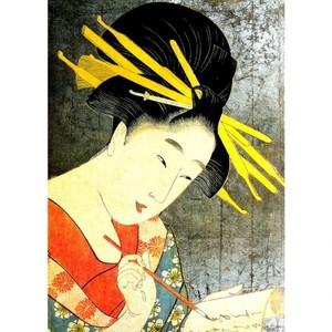喜多川歌麿「松葉楼装ひ 実を通す風情」【額装向け複製画】