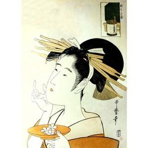 喜多川歌麿「あててみな 丁子屋内」【額装向け複製画】