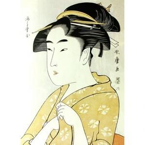 喜多川歌麿「ひら野屋おせよ」【額装向け複製画】