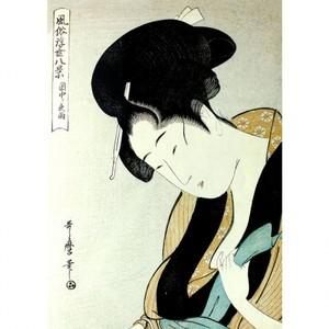 喜多川歌麿「風俗浮世八景 閨中ノ夜雨」【タペストリー】