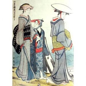 喜多川歌麿「四季遊花之色香」【タペストリー】