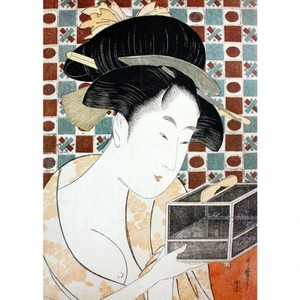 喜多川歌麿「虫籠」【窓飾り】