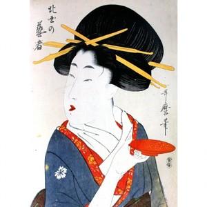喜多川歌麿「北国に芸者」【窓飾り】