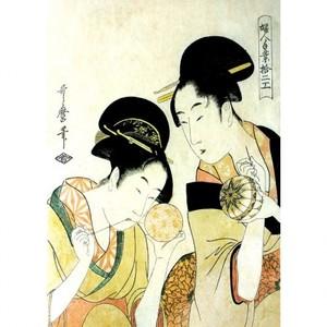 喜多川歌麿「婦人手業拾二工 手鞠作り」【窓飾り】