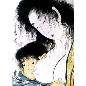 喜多川歌麿「山姥と金太郎」【窓飾り】