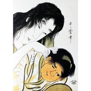 喜多川歌麿「山姥と金太郎 耳かき」【タペストリー】
