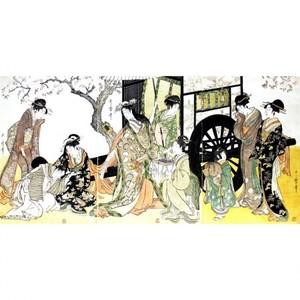 喜多川歌麿「見立御所車」【窓飾り】