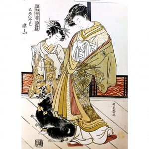 礒田湖龍斎「雛形若菜の初模様 大ゑびや内染山」【窓飾り】