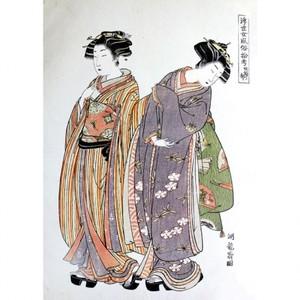 礒田湖龍斎「浮世女風俗拾考 妓婦ノ部」【タペストリー】