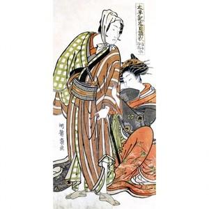 礒田湖龍斎「太平記忠臣講釈 縫之介浮橋道行」【襖紙】
