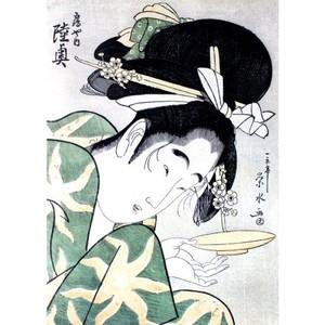 一楽亭栄水「鶴や内陸奥」【額装向け複製画】
