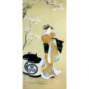 歌川豊春「桜下遊女図」【窓飾り】
