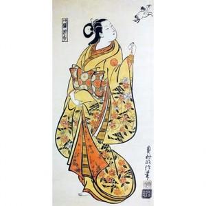 奥村政信「遊女張果部」【額装向け複製画】