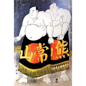 勝川春英「常山五郎吉・熊山庄大夫」【窓飾り】