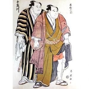 勝川春英「千賀浦・千歳川」【窓飾り】