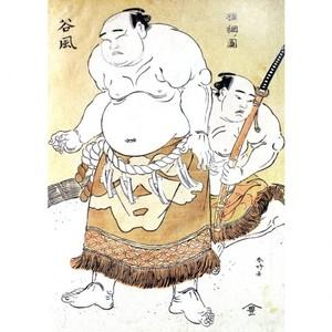 勝川春好「横綱ノ図 谷風」【窓飾り】