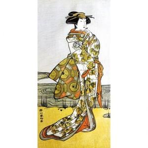 勝川春好「三代目瀬川菊之丞」【窓飾り】