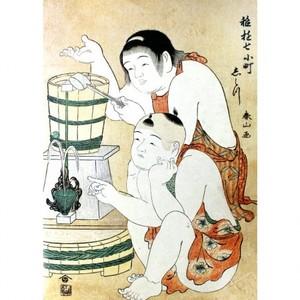 勝川春山「稚遊七小町 志ら川」【タペストリー】
