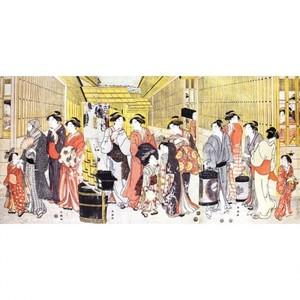 勝川春潮「新吉原江戸町の図」【額装向け複製画】