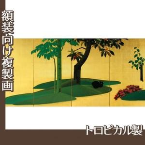速水御舟「翠苔緑芝(右)」【複製画:トロピカル】