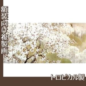 木島桜谷「小雨ふる吉野(左)」【複製画:トロピカル】