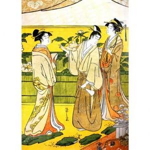 鳥文斎栄之「源氏花のゑん2」【額装向け複製画】