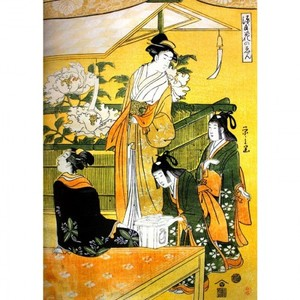 鳥文斎栄之「源氏花のゑん3」【窓飾り】