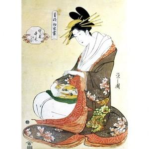 鳥文斎栄之「若那初衣裳 竹屋歌巻」【タペストリー】